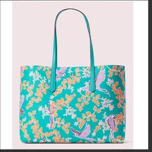 New! kate spade molly bird party large tote